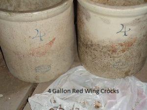 4 Gal. Red Wing crocks