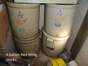 4 Red Wing Gallon crocks (7 total 4 gal)