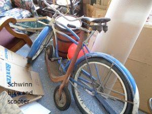 Schwinn bike and scooter
