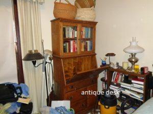 antique desk with misc.