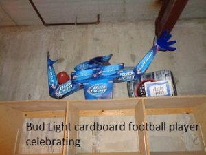 Bud Light cardboard