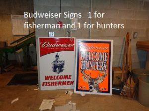 Budweiser sportsman signage