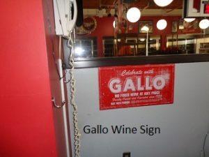 Gallo Wine Sign
