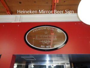 Heinken Mirror Sign
