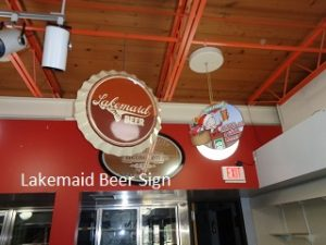 Lakemaid Beer sign