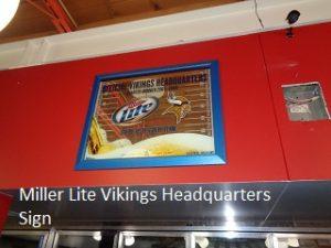 Vikings Miller Lite Sign