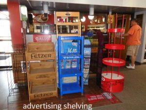 advertising shelving