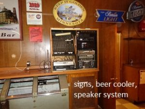 beer cooler and signage
