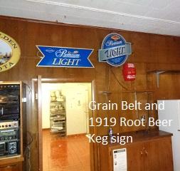 grain belt and 1919 root beer sign