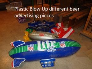 plastic beer blow up signage