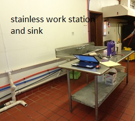 stainless sink and workstation