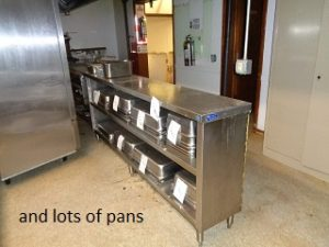 stainless work counter