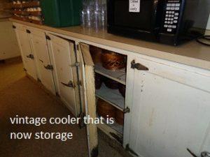 vintage cooler now storage