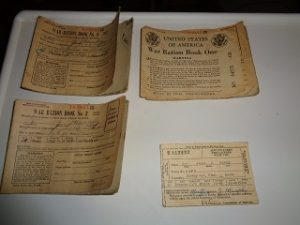 war rations and antique drivers license